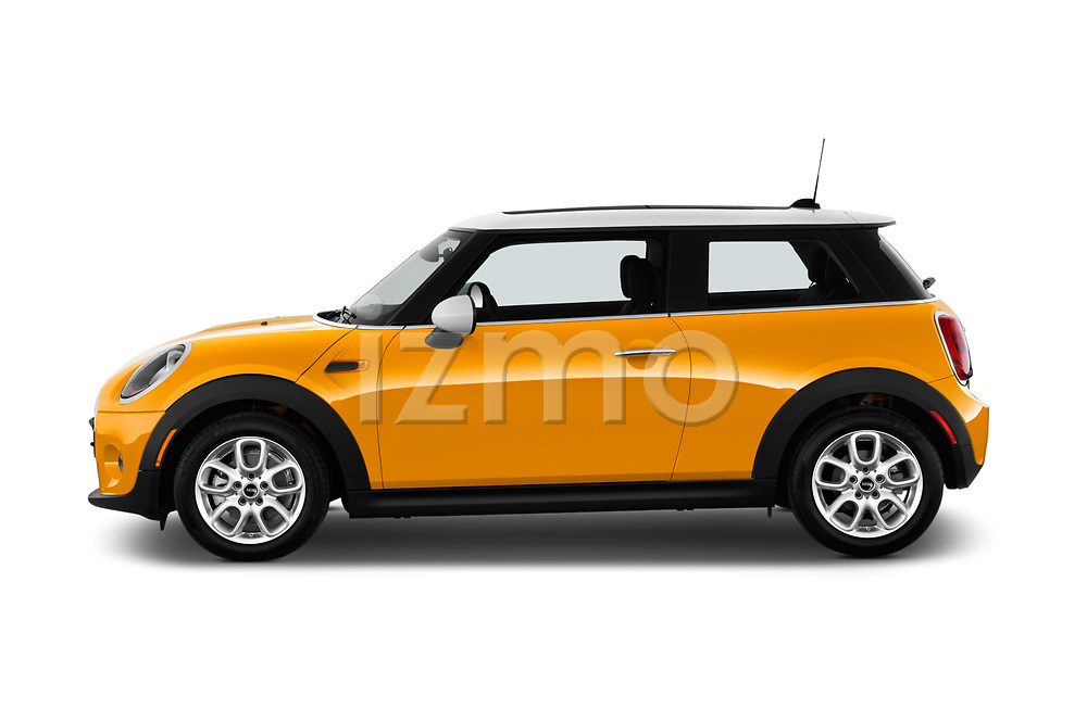 Car Driver side profile view of a 2017 MINI Cooper 3-door 3 Door Hatchback Side View