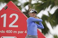 Jessica Korda (USA) in action on the 12th during Round 1 of the HSBC Womens Champions 2018 at Sentosa Golf Club on the Thursday 1st March 2018.<br /> Picture:  Thos Caffrey / www.golffile.ie<br /> <br /> All photo usage must carry mandatory copyright credit (&copy; Golffile | Thos Caffrey)