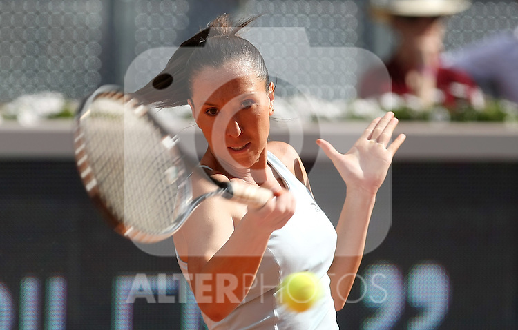 Serbia's Jelena Jankovic during her Madrid Open first round match. May 12, 2009. (ALTERPHOTOS/Alvaro Hernandez)