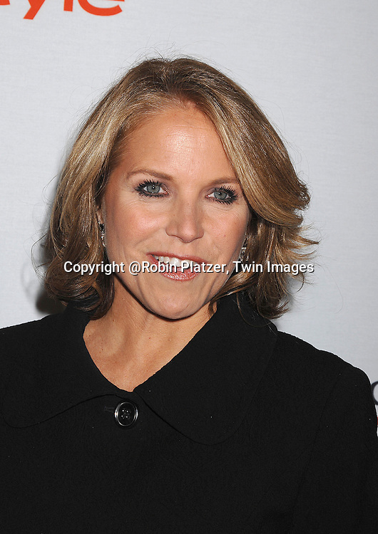 Katie Couric..posing for photographers at The Project ALS 10th Anniversary  celebration on October 16, 2007 at ..The Waldorf Astoria in New York. ..Robin Platzer, Twin Images