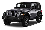 2018 JEEP Wrangler Sport 3 Door SUV Angular Front stock photos of front three quarter view