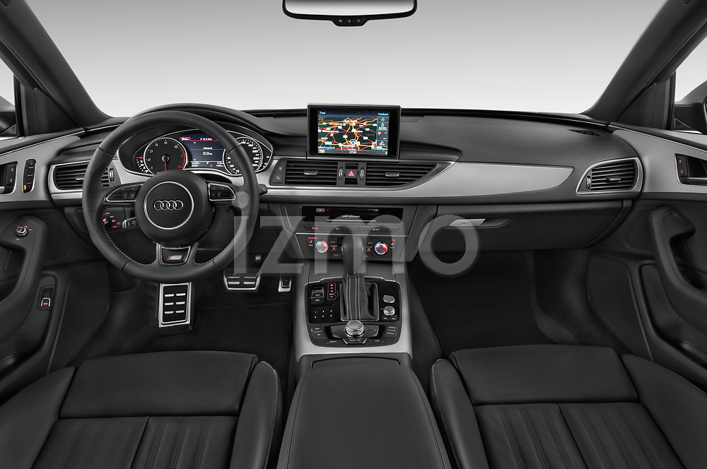 Stock photo of straight dashboard view of a 2018 Audi A6 Avant S Line Select Doors Door Wagon
