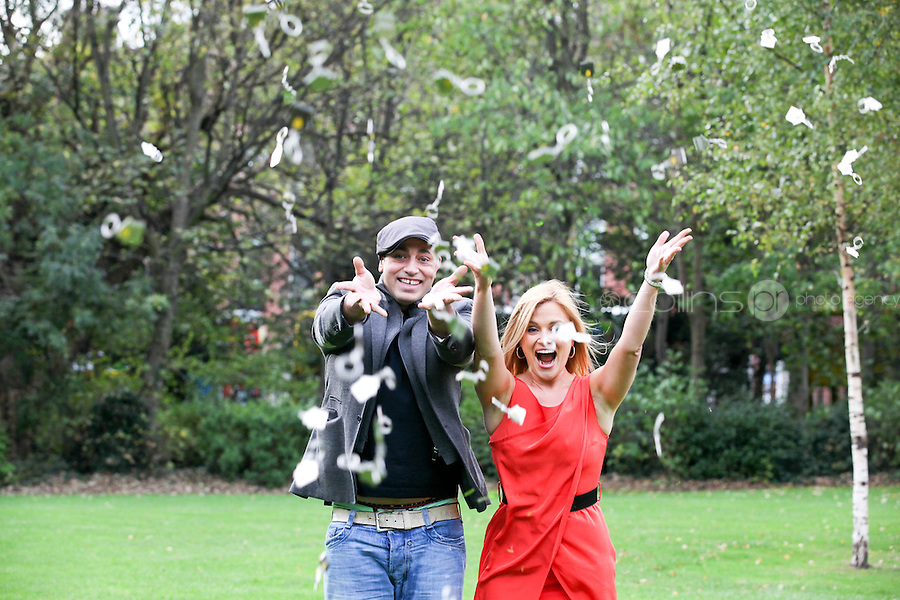 NO REPRO FEE. 18/10/2011. Focus Ireland Ambassadors - TV3's Karen Koster and RTE's Baz Ashmawy teamed up with Focus Ireland to make an urgent appeal for people to volunteer to take part in the charity's annual 'Key to a Home Collections' on November 18th - 21st.Volunteers are needed nationwide to sell key rings and shake buckets to raise vital funds to help Focus Ireland's work each year supporting over 6,500 people who are homeless or at risk of losing their home. You can get involved by calling 01 881 59 00, emailing events@focusireland.ie or by visiting www.facebook.com/focusirelandcharity. Picture James Horan/Collins