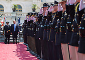President Donald Trump arrives at the 37th Annual National Peace Officers' Memorial Service at the U.S. Capitol Building on May 15, 2018 in Washington, D.C. <br /> Credit: Kevin Dietsch / Pool via CNP
