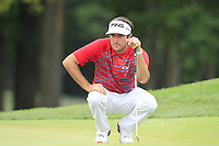 Bubba Watson (USA) on the 8th green during Thursday's Round 1 of the 2014 PGA Championship held at the Valhalla Club, Louisville, Kentucky.: Picture Eoin Clarke, www.golffile.ie: 7th August 2014