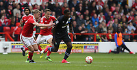 Blackburn Rovers' Lucas Joao pursued by Nottingham Forest's Joe Worrall (left) and Chris Cohen<br /> <br /> Photographer Stephen White/CameraSport<br /> <br /> The EFL Sky Bet Championship - Nottingham Forest v Blackburn Rovers - Friday 14th April 2016 - The City Ground - Nottingham<br /> <br /> World Copyright &copy; 2017 CameraSport. All rights reserved. 43 Linden Ave. Countesthorpe. Leicester. England. LE8 5PG - Tel: +44 (0) 116 277 4147 - admin@camerasport.com - www.camerasport.com