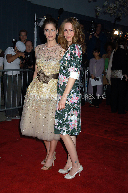 WWW.ACEPIXS.COM . . . . . ....NEW YORK, APRIL 18, 2005....Amanda Peet and Sarah Paulson  at the premiere of 'A Lot Like Love' at the Clearview Chelsea West. ....Please byline: KRISTIN CALLAHAN - ACE PICTURES.. . . . . . ..Ace Pictures, Inc:  ..Craig Ashby (212) 243-8787..e-mail: picturedesk@acepixs.com..web: http://www.acepixs.com
