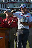 Bethesda, MD - June 29, 2014: Justin Rose gives a thumbs up after winning the Quicken Loans National at Congressional Country Club in Bethesda, MD, June 29, 2014. Rose won the tournament after a playoff with Shawn Stefani.  (Photo by Don Baxter/Media Images International)