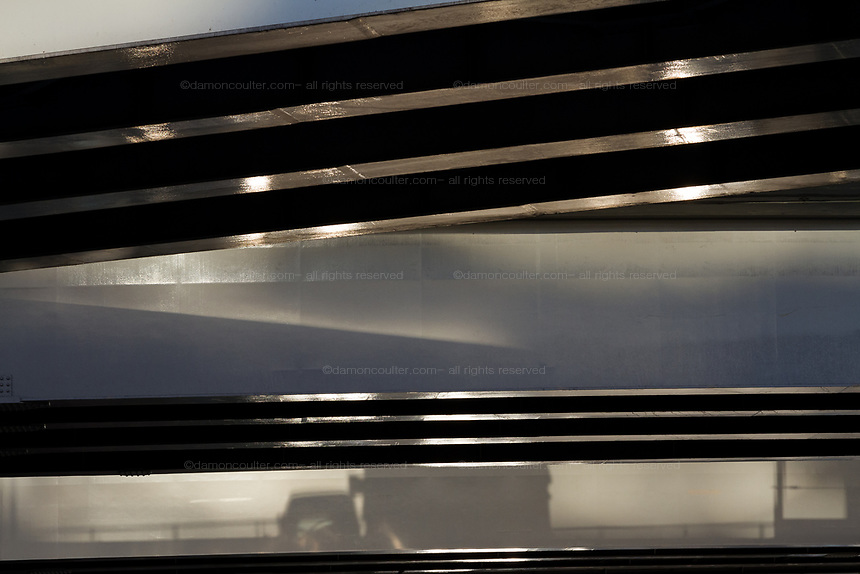 Shadow of a truck on expressway overpasses in Shinjuku, Tokyo, Japan Wednesday November 21st