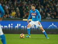 Jorginho  during the  italian serie a soccer match,between SSC Napoli Sassuolo       at  the San  Paolo   stadium in Naples  Italy , November 28, 2016