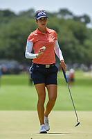 Azahara Munoz (ESP) after sinking her par putt on 4 during round 3 of the 2019 US Women's Open, Charleston Country Club, Charleston, South Carolina,  USA. 6/1/2019.<br /> Picture: Golffile | Ken Murray<br /> <br /> All photo usage must carry mandatory copyright credit (© Golffile | Ken Murray)