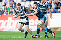 Picture by Allan McKenzie/SWpix.com - 10/05/2018 - Rugby League - Ladbrokes Challenge Cup - Featherstone Rovers v Hull FC - LD Nutrition Stadium, Featherstone, England - Hull FC's Jamie Shaul escapes the grasp of Featherstone's Tom Holmes.