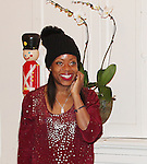 Designer Tracy Reese - Hearts of Gold links to a better life celebrates Christmas with a party #2 for mothers and their children on December 17, 2016 in New York City, New York with arts and crafts, a great turkey dinner with all the goodies and then the children met Santa Claus and had a photo with him as he gave them gifts. (Photo by Sue Coflin/Max Photos)