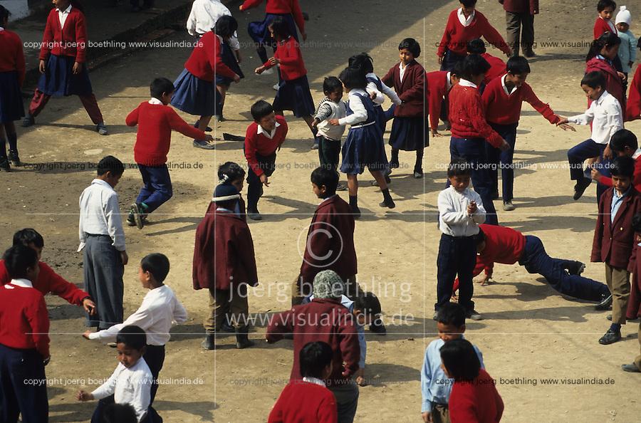 NEPAL Kathmandu, Rugmark school for former child labourer in the carpet industry / NEPAL Kathmandu, Rugmark Schule fuer Kinder die ehemals in der Teppichindustrie gearbeitet haben