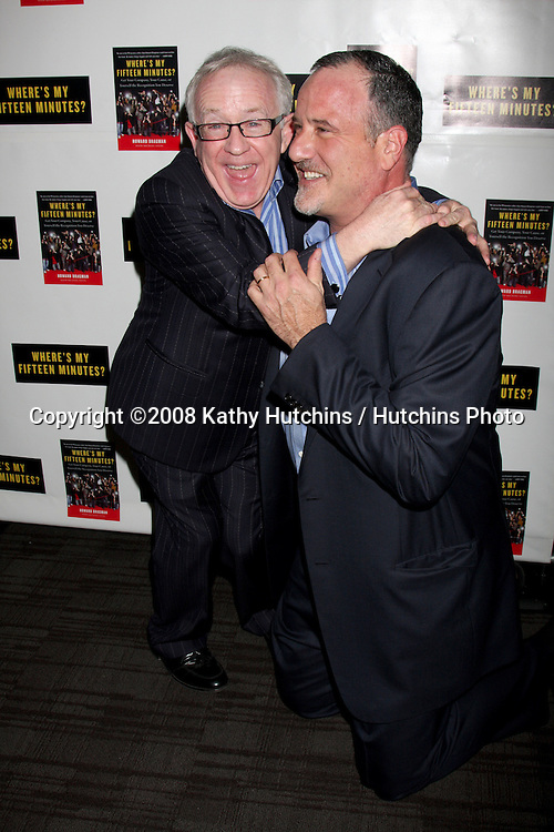 "Leslie Jordan & Howard Bragman.Howard Bragman's Book Party for ""Where's My Fifteen Minutes"" at the Chateau Marmont Hotel in West Los Angeles, CA on .January 14, 2009.©2008 Kathy Hutchins / Hutchins Photo..                ."