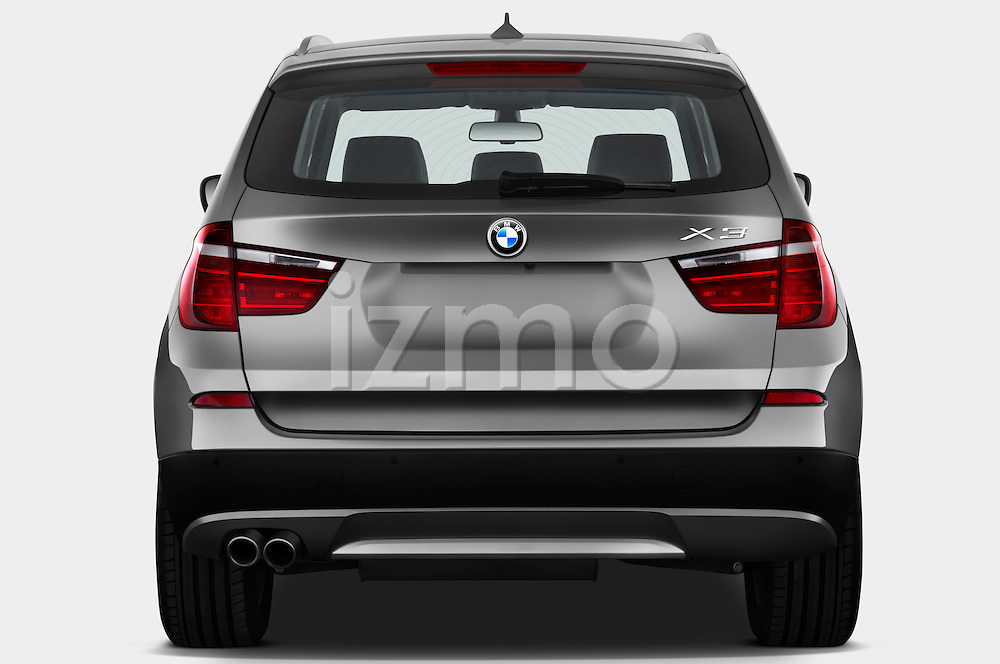 Straight rear view of a 2011 BMW x3 xDrive35i SUV