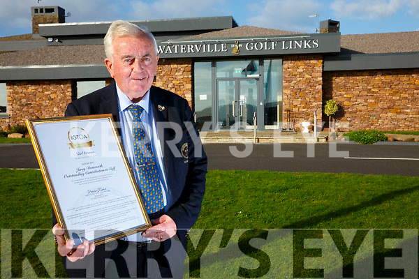 Noel Cronin Manager Waterville Golf Links was awarded the 'Jerry Donworth Outstanding Contribution to Golf Award', by the IGTOA(Irish Golf Tour Operator Association) at a ceremony in Doonbeg Golf Club on the 29th October.