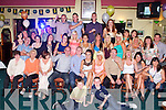BON VOYAGE: Peter Donoghue and Ashling Healy, Shanakill, Tralee (seated centre) who are off to Oueensland, Australia celebrating with family and friends at the Na Gaeil clubhouse, Tralee on Saturday...
