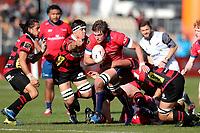 Ethan Blackadder of Tasman Mako during the Mitre 10 Cup rugby match between Canterbury and Tasman Makos at Orangetheory Stadium in Christchurch, New Zealand on Friday, 5 July 2019. Photo: Martin Hunter / lintottphoto.co.nz