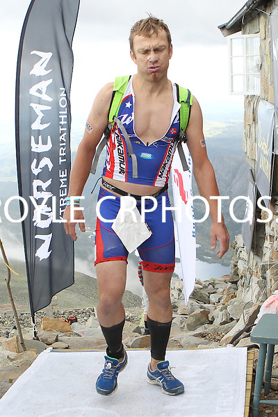 Race number 14 David Ekroll - Sunday Norseman Xtreme Tri 2012 - Norway - photo by chris royle / boxingheaven@gmail.com