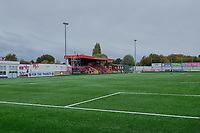 General view of the ground ahead of Carshalton Athletic vs Boston United, Emirates FA Cup Football at the War Memorial Sports Ground on 9th November 2019