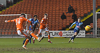 Blackpool's Harry Pritchard scores his team's 2nd goal <br /> <br /> Photographer Dave Howarth/CameraSport<br /> <br /> The EFL Sky Bet League One - Blackpool v Wycombe Wanderers - Tuesday 29th January 2019 - Bloomfield Road - Blackpool<br /> <br /> World Copyright © 2019 CameraSport. All rights reserved. 43 Linden Ave. Countesthorpe. Leicester. England. LE8 5PG - Tel: +44 (0) 116 277 4147 - admin@camerasport.com - www.camerasport.com