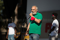 """Francesco (Ex ILVA Worker).<br /> <br /> Rome, 05/07/2020. Today, thousands of people gathered in Piazza San Giovanni to attend the """"Stati Popolari"""". The rally, organised by Aboubakar Soumahoro (1.) - Trade Union Coordinator of the Unione Sindacale di Base USB, was meant to be a popular answer by the """"Invisibles"""" to the """"Stati Generali dell'Economia"""" (States General of the Economy, 2.) of the Italian Prime Minister Giuseppe Conte, a 10-day-long meeting held in June at Villa Doria Pamphili (Villa Doria Pamphilj, 2.) where Italian and EU leaders / members of Governments, bankers, investors, advisors, met to discuss the economic recovery from the Covid-19 / Coronavirus crisis. From the organisers Facebook event page: «The Popular States will be our agora, where different realities will bring their pains and their proposals. A human square to make all the invisible visible and to give voice to all the unheard, our only symbol. The Popular States will be the communion of our needs and our struggles […]» (3.). At the end of the demo Soumahoro, who mainly deals with protection of """"Braccianti"""" (agricultural workers) rights, fights against """"caporalato"""" (illegal hiring) and the exploitation along the agricultural supply chain, gave a speech (4.) addressing the requests to the Government: - National plan for the work emergency; - Public housing program; - integral reform of the food supply chain; - radical transformation of migration policies (including, the """"right to return"""" for Italian migrants); - abolish the """"Security decrees"""" and cancel Bossi-Fini law; - reform the reception; - ecological transition strategy; - proactive interventions against discrimination and for equality.<br /> <br /> Footnotes & Links:<br /> 1. (Wikipedia.org) http://bit.do/fF4rH<br /> 2. 16.06.20 Aboubakar Soumahoro: Hunger/Thirst Strike And Meeting With Italian Prime Minister Conte http://bit.do/fGrbH<br /> 3. http://bit.do/fGrbD & https://www.facebook.com/StatiPopolari/<br /> 4. Aboubakar Soumahoro"""
