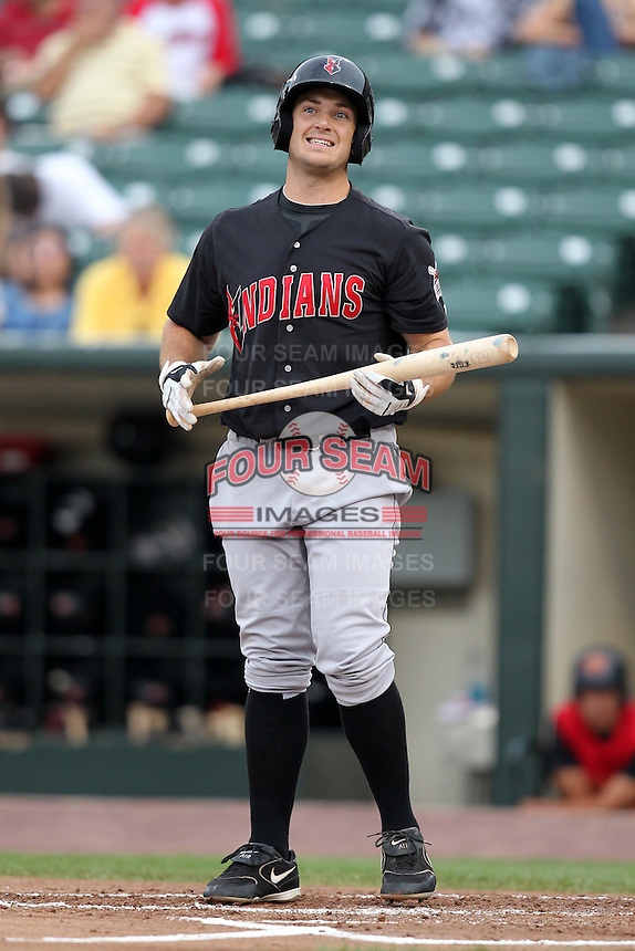 Indianapolis Indians Jeff Clement during a game vs. the Rochester Red Wings at Frontier Field in Rochester, New York;  July 17, 2010.   Indianapolis defeated Rochester 10-7.  Photo By Mike Janes/Four Seam Images