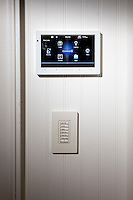 Touch Panels running the latest Control4 software are strategically placed throughout the house making everything easily accessible to the client.