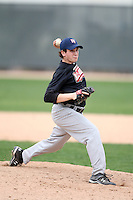 January 17, 2010:  Sean Flanagan (Framingham, MA) of the Baseball Factory Northeast Team during the 2010 Under Armour Pre-Season All-America Tournament at Kino Sports Complex in Tucson, AZ.  Photo By Mike Janes/Four Seam Images