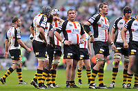 Photo: Tony Oudot/Richard Lane Photography. London Wasps v Bath Rugby. The St. George's Day Game. Guinness Premiership. 24/04/2010. .Dejected Wasps players at the end of the match.