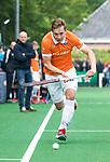BLOEMENDAAL   - Hockey - Floris Wortelboer (Bldaal) . 3e en beslissende  wedstrijd halve finale Play Offs heren. Bloemendaal-Amsterdam (0-3). Amsterdam plaats zich voor de finale.  COPYRIGHT KOEN SUYK