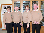 Captain Michael Lambe and lady captain Frances Stanley, Lady president Breda McEvoy and president Andrew Taaffe pictured at the Captain's Drive in at Seapoint golf club. Photo: Colin Bell/pressphotos.ie