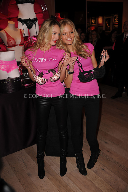 WWW.ACEPIXS.COM . . . . . ....February 9 2010, New York City....Victoria's Secret Bombshells Candice Swanepoel and Erin Heatherton answer Valentine's Day questions on Bing Video at the Victorias Secret SoHo Store on February 9, 2010 in New York City. ....Please byline: KRISTIN CALLAHAN - ACEPIXS.COM.. . . . . . ..Ace Pictures, Inc:  ..(212) 243-8787 or (646) 679 0430..e-mail: picturedesk@acepixs.com..web: http://www.acepixs.com