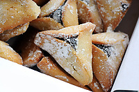 Purim - Close up of  Hamantaschen Cookies Purim - Close up of  Hamantaschen Cookies