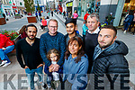 Palestines pictured with Tralee locals, on Tuesday afternoon last as the town Beit Sahour on the West bank is twinned with Tralee, l-r: Ahmed Lulu, John Loughrey, Mia Kahan, Malek Ghuimmeid, Shahidah Janjua, Pa Daly and Ramir Kahn.