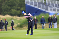 Anne Van Dam of Team Europe on the 1st fairway during Day 2 Foursomes at the Solheim Cup 2019, Gleneagles Golf CLub, Auchterarder, Perthshire, Scotland. 14/09/2019.<br /> Picture Thos Caffrey / Golffile.ie<br /> <br /> All photo usage must carry mandatory copyright credit (© Golffile | Thos Caffrey)