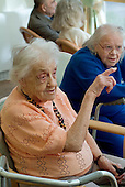 Residents of a Westminster Council sheltered housing scheme in Paddington, London