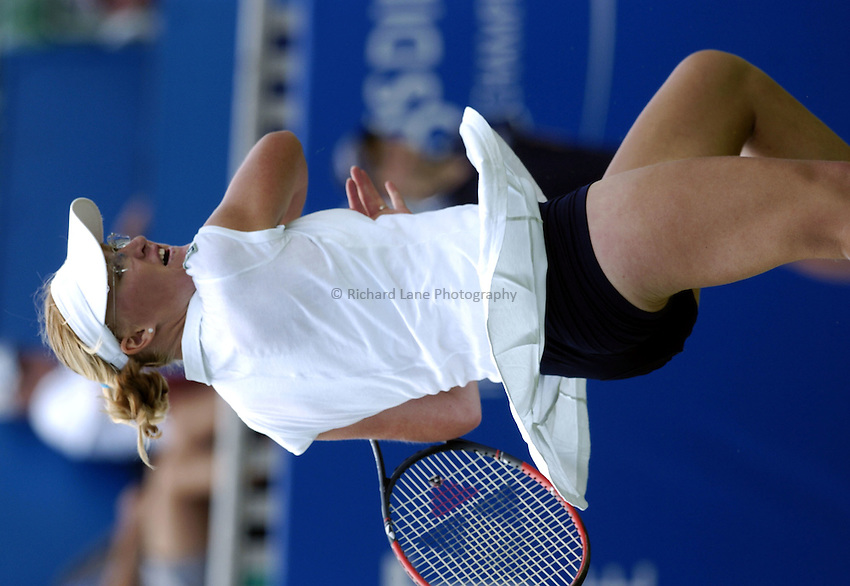 Photo: Richard Lane..Hastings Direct International Championship at Eastbourne. 14/06/2004..Elena Baltacha of Great Britain.