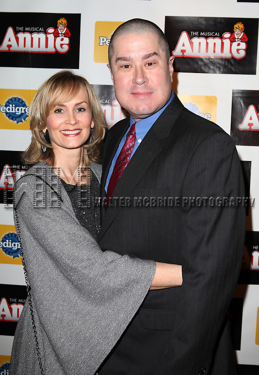 Merwin Foard & wife Rebecca Baxter attending the Broadway Opening Night Performance After Party for 'Annie' at the Hard Rock Cafe in New York City on 11/08/2012