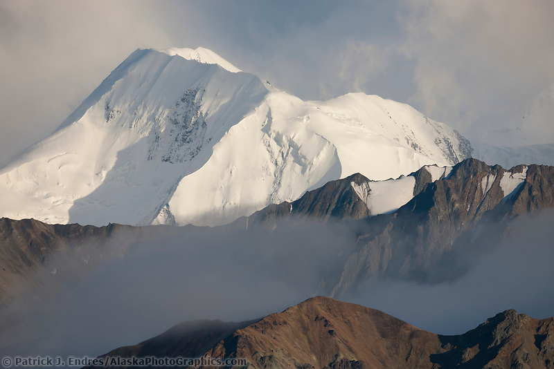 Mt mather of the Alaska Range mountains, Denali National Park, Interior, Alaska.