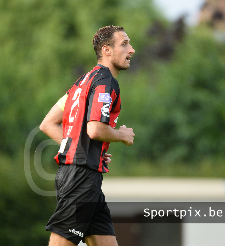20150807 - ROESELARE, BELGIUM: Seraing's Petar Bojovic pictured during the Proximus League match between KSV Roeselare and RFC Seraing , in Roeselare , Friday 7 August 2015, on the 1st day of the Belgian second division soccer championship. PHOTO DAVID CATRY