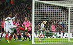 Gary Cahill of England scores the third goal past Craig Gordon of Scotland during the FIFA World Cup Qualifying Group F match at Wembley Stadium, London. Picture date: November 11th, 2016. Pic David Klein/Sportimage