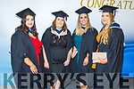 Sharon O'Connor, Rebecca McGovern, Michelle McCarthy and Emma Naughton graduating from Early Childhood Care in the I T Tralee on Friday.