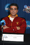 08 December 2007: Head coach Ali Khosroshahin. The University of Southern California Trojans held a press conference at the Aggie Soccer Stadium in College Station, Texas one day before playing in the NCAA Division I Womens College Cup championship game.