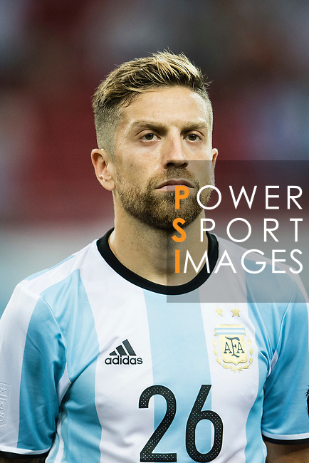 Alejandro Gomez of Argentina during the International Test match between Argentina and Singapore at National Stadium on June 13, 2017 in Singapore. Photo by Marcio Rodrigo Machado / Power Sport Images