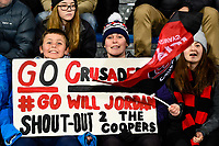 11th July 2020, Christchurch, New Zealand;  Fans during the Super Rugby Aotearoa, Crusaders versus Blues, at Orangetheory Stadium, Christchurch
