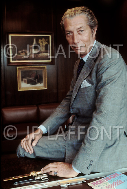 August 1st, 1975. Frederic Chandon de Briailles, Vice President of Moet & Hennessy Champagne.