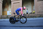 Matti Breschel (DEN) EF Education First on the San Luca climb during Stage 1 of the 2019 Giro d'Italia, an individual time trial running 8km from Bologna to the Sanctuary of San Luca, Bologna, Italy. 11th May 2019.<br /> Picture: Eoin Clarke | Cyclefile<br /> <br /> All photos usage must carry mandatory copyright credit (© Cyclefile | Eoin Clarke)