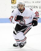 Mike Hewkin (NU - 28) - The Northeastern University Huskies defeated the Boston College Eagles 3-2 on Friday, February 19, 2010, at Matthews Arena in Boston, Massachusetts.